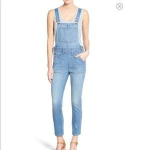 Madewell Skinny Cropped Overalls